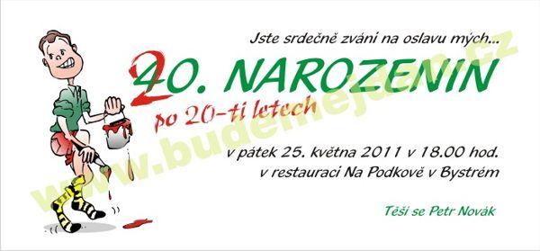pozvánka na 20 narozeniny Budemejdan.cz   pozvánky na nejrůznější akce pozvánka na 20 narozeniny