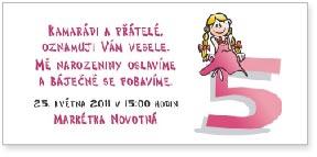 Holčička - páté narozeniny