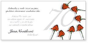 Růže - sedmdesáté narozeniny