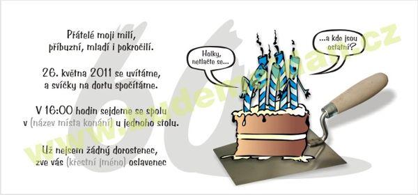 vtipná pozvánka na narozeniny text Budemejdan.cz   pozvánky na nejrůznější akce vtipná pozvánka na narozeniny text